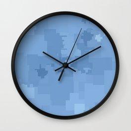 Placid Blue Square Pixel Color Accent Wall Clock