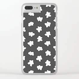 White Game Meeples Clear iPhone Case
