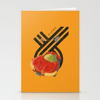 led zeppelin Stationery Cards featuring Led Storm by Slippytee Clothing