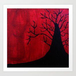 Red and Black Tree 1. Art Print