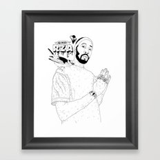 RZA Framed Art Print