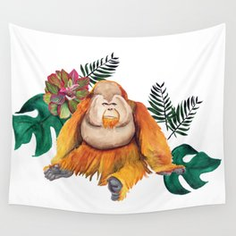Forest Of Orangutans Wall Tapestry