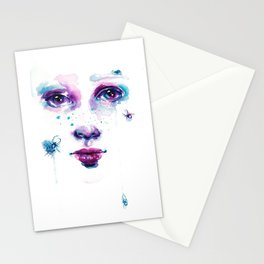 Spider - Watercolour Portrait Stationery Cards