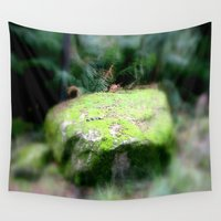 moss Wall Tapestries featuring Moss Rock by Chris' Landscape Images & Designs