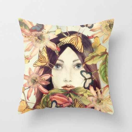 Whispers From A Secret Garden Throw Pillow
