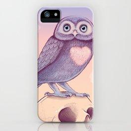 Little Owl + Skull iPhone Case