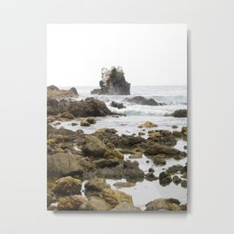 Rock Arch at Crystal Cove, Newport Beach, California Metal Print
