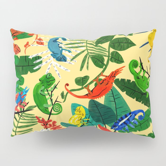 Nine Chameleons Hiding in the Tropics Pillow Sham