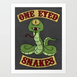 One Eyed Snakes Art Print