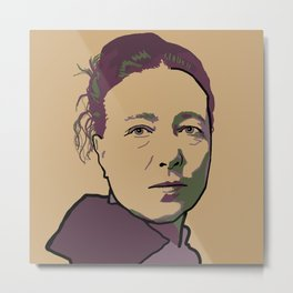 Simone de Beauvoir Metal Print
