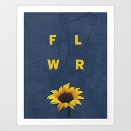 Concrete Sunflower Art Print
