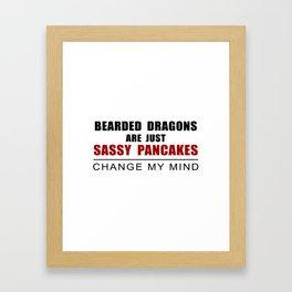 Sassy Pancakes Framed Art Print