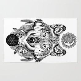 Bohemian Celestial Wolf Rug