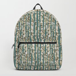 Inky Silver Birches - Ice Blue Backpack