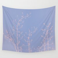 jasmine Wall Tapestries featuring Serenity of Rose Jasmine by tanjica