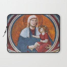 Giotto di Bondone - Madonna Col Bambino Ridente Laptop Sleeve