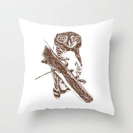 Forest Owlet Throw Pillow