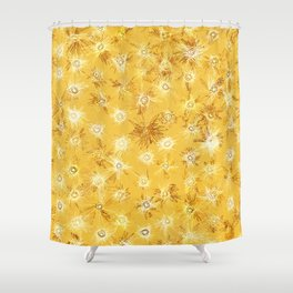 Frenetic Fireflies in the Desert Abstract Shower Curtain