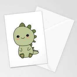 Sweet Little Dinosaur Stationery Cards