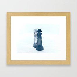 Chess Pieces III Framed Art Print
