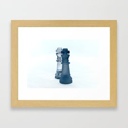 Chess Pieces III Framed Art Print