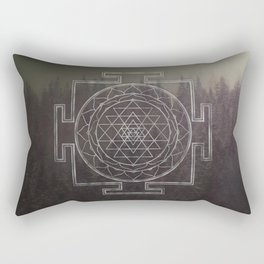 Sri Yantra Forest Rectangular Pillow