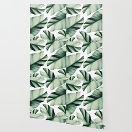 Tropical Banana Leaves Vibes #1 #foliage #decor #art #society6 Wallpaper