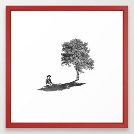 Shady Framed Art Print