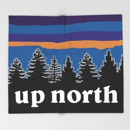 up north, blue & purple Throw Blanket