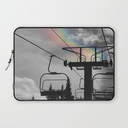 4 Seat Chair Lift Rainbow Sky B&W Laptop Sleeve