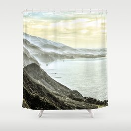 Somewhere over Big Sur. Shower Curtain