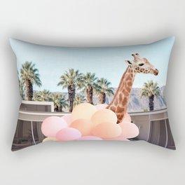 Giraffe Palm Springs Rectangular Pillow