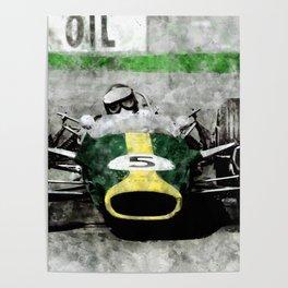 Jim Clark on Lotus Poster
