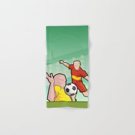 Soccer game Hand & Bath Towel