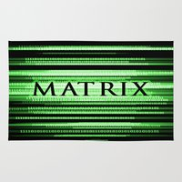 matrix Area & Throw Rugs featuring Matrix by Svetlana Sewell