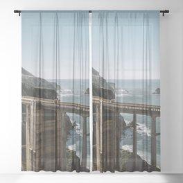 Bixby Bridge in Big Sur California Sheer Curtain