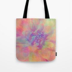 Fill Your Life With Colors (Dahlia Flower in Pastel Rainbow Colors) Tote Bag