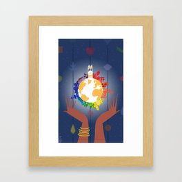 It's A Small World In Your Hands Framed Art Print