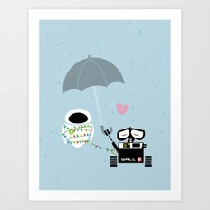 true love.. walle and eve  Art Print