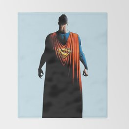 super man Throw Blanket