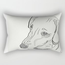 Dachshund That Look Rectangular Pillow