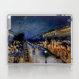The Boulevard Montmartre At Night : Camille Pissarro Laptop & iPad Skin