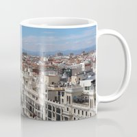 madrid Mugs featuring Madrid Espana by Eduardo Doreni