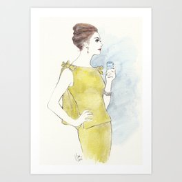 'Natalia' Watercolor Fashion Illustration Art Print