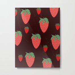 Dark Strawberries  Metal Print