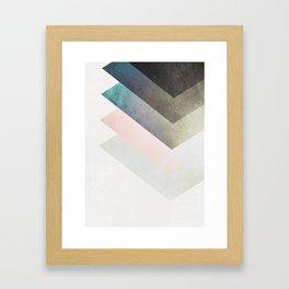 Geometric Layers Framed Art Print