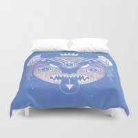 demon Duvet Covers featuring Sky Demon by LordofMasks