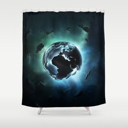 GLOW IN THE DARK Shower Curtain