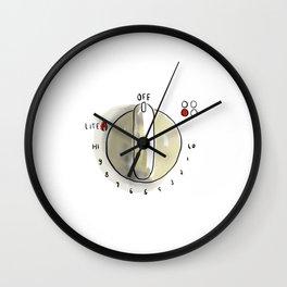 Stove Dial Wall Clock