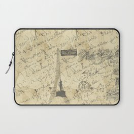Parisian French Script Laptop Sleeve